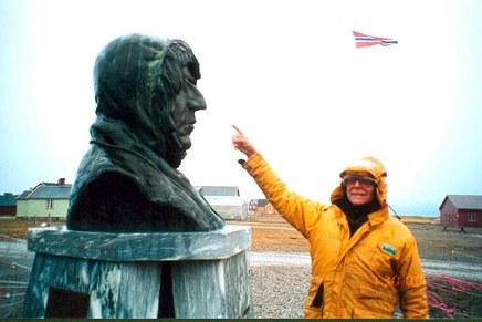 The memorial to Admundsen, Ny Alesund, Spitzbergen