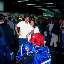 Bue - Aeroparque – Conni, Andrea, sacca bici e bagagli