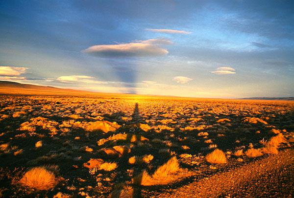 Direzione lago Cardiel – Luci e ombre del tramonto