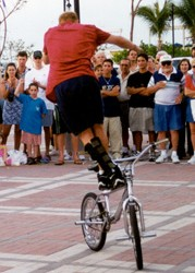 Street performer at Mallory Square