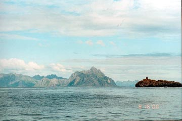 The forbidding coastline of the Lofoten Is